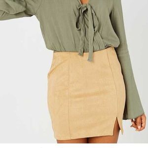Altar'd State Amblee faux suede mini skirt. Size S